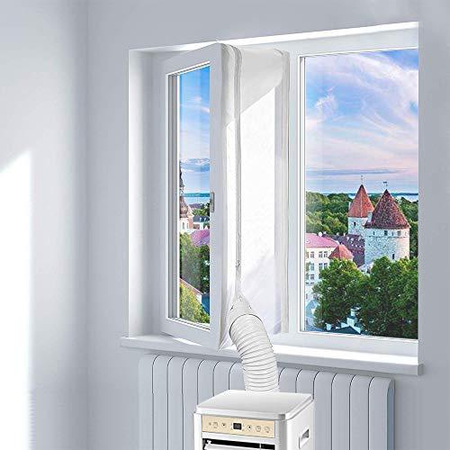 Olssad Fensterabdichtung Für mobile Klimageräte Window Seal for Portable Air Conditioner und Abluft-Wäschetrockner 400cm