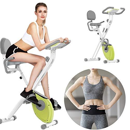 == Folding Exercise Bike,Exerpeutic Folding Magnetic Upright Exercise Bike with Pulse,Stationary Exercise Bike with 8-Level Adjustable Magnetic Resistance.