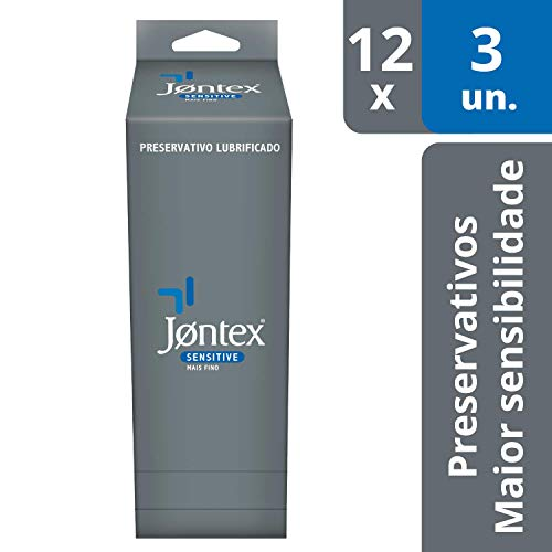Preservativo Lubrificado Sensitive Display, Jontex