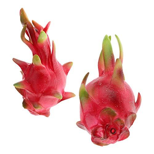 Tubayia 2 Stück Künstliche Drachenfrucht Obst Modell Kunstobst Dekoration Foto Prop