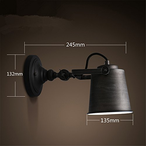 Edition: 110V YLCJ Wall Lamp American Retro Long Arm Iron Art Wall Lamp Rocker Extension Personality Wall Lights Industrial Type Bedside Lamp