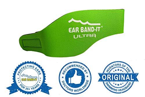 Ear Band-It Stirnband Schwimmen (behalten Wasser, halten Stecker Ohren) empfohlen durch den Arzt und Gewässerschutz Klein (Alter 1-3) Grün