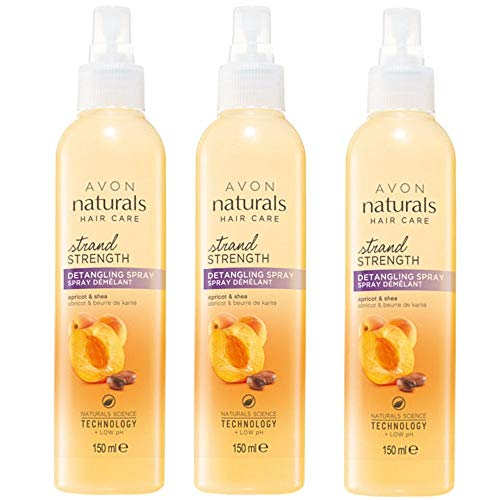 Naturals, 3 shampoo all'albicocca e karité, spray districante, confezione da 150 ml