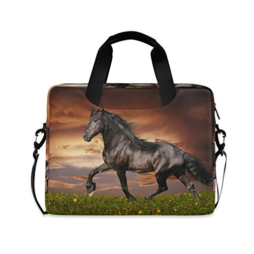 FELIZM - Funda para ordenador portátil con correa para el hombro, diseño de caballo animal