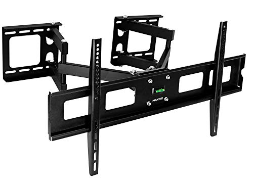 Mount-It! MI-484C Articulating Corner Mount for TV Premium Swivel Full Motion Wall Bracket for 37-63 inch Screen LCD OLED Plasma 4K Flat Panel Screens VESA up to 800x400, 132 lb Capacity, Black