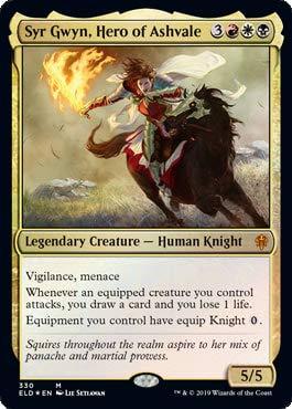 Magic: The Gathering - Syr Gwyn, Hero of Ashvale - Foil - Brawl Deck Exclusive - Throne of Eldraine