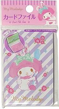 Sanrio Hello Kitty My Melody Card File Case 8 Pocket 16 Sheets Storage  Rabbit Ears
