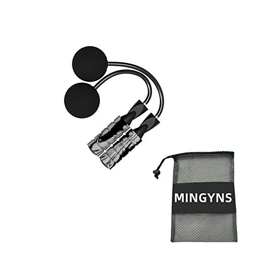 MINGYNS Weighted Jump Rope,Adjustable Ropeless Jump Rope Cordless Rope Skipping Wireless Jumping Rope for Indoor/Outdoor Fitness Boxing Training WOD MMA (Grey, 270g)