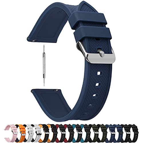 Fullmosa Silicone Rubber 22mm Watch Band,8 Colors...