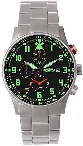 Astroavia H3SN - Reloj de pulsera para hombre con cronógrafo, mecanismo de cuarzo