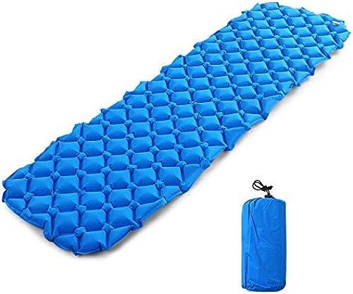 XULIYY Coussin Gonflable Tapis de Camping Gonflable de Coussin de Sommeil d'air Ultra-léger avec l'oreiller pour Le Camping extérieur Faisant de la randonnée Sac à Dos
