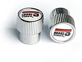 ECCO SKU 901 - Big O Tires - Custom Valve Caps White - Conventional Fit - 1000 Pak - with Inner Silicone Seal