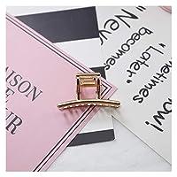 ヘアピン 新しいファッション女性ゴールド幾何学的なシンプルな合金中空のヘアクリップ (Color : 5)