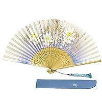 扇子 レディース シルク 扇子入れ 扇子袋-女性用-和装小物-&JuJu… (水色)