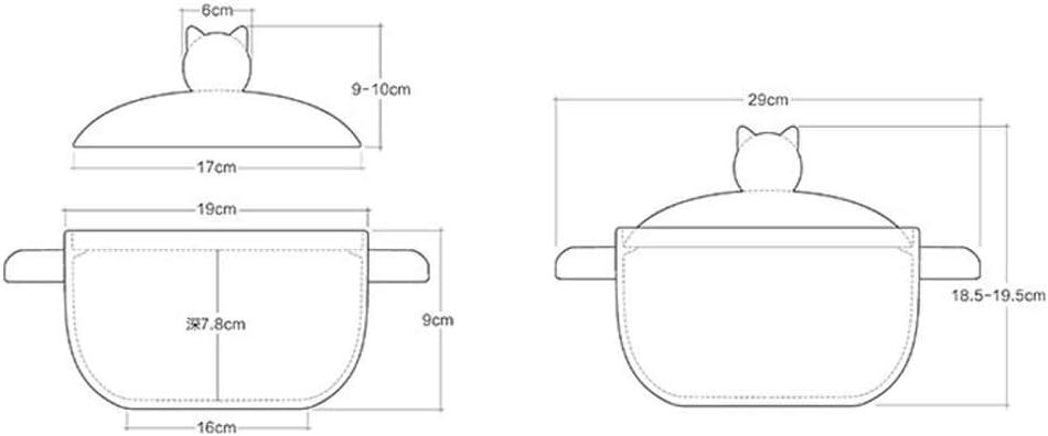 HLJ Casserole Mini Open Fire Accueil Clay Pot de Riz d'argile gaz de Petite capacité (Color : B) C