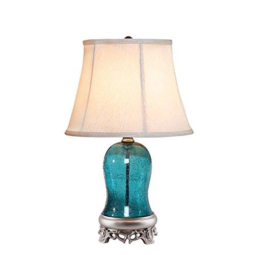 Lampe de chevet méditerranéen chambre lampe bleu lampe de jardin en verre