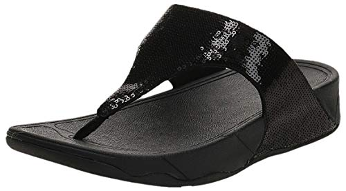 FitFlop Women's Classic Electra Sandal ,Black ,6 M US