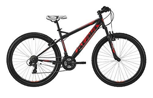 Atala Mountain Bike Station 2019 27.5', 21 velocità, Misura XS, 135cm a 150cm, Colore Nero - Rosso Neon