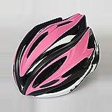 ILKJ Mujer Cascos Bici Rosa Negro, Carretera Casco de Bicicleta con Desmontables Visera, MTB...