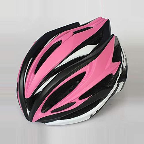 ILKJ Mujer Cascos Bici Rosa Negro, Carretera Casco de Bicicleta con Desmontables...