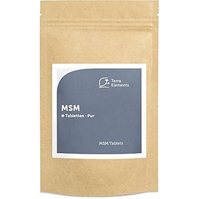 Terra Elements MSM Tabletten (750 mg, 160 St) I Organischer Schwefel I Für Haut, Haare, Nägel I Vegan