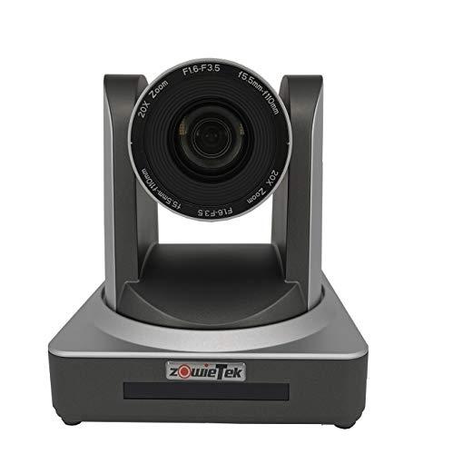 Zowietek PTZ Pro - Cámara PTZ de zoom Óptico, 20 aumentos, Cámara de transmisión en vivo con HDMI simultáneo y salidas 3G-SDI, de vigilancia, HD, Sistema de videoconferencia, Zoom óptico