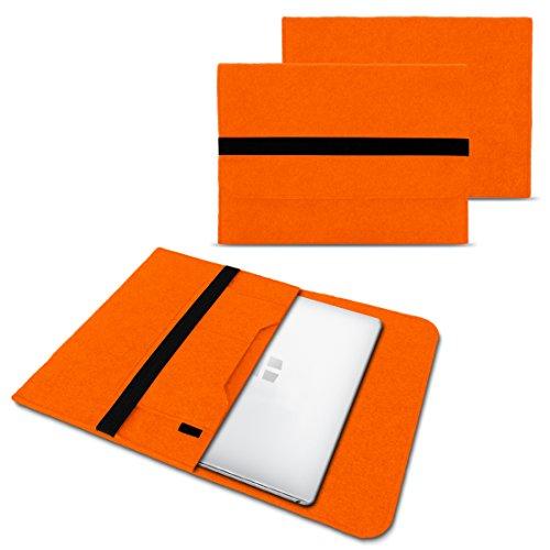 NAUC Laptoptasche Sleeve Schutztasche Hülle für Trekstor Surfbook W1 W2 Netbook Ultrabook 14,1 Zoll Laptop Filz Hülle, Farben:Orange