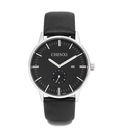 SJXIN schöne und stilvolle Uhr, Dawn Uhren Herrenuhr Gürtel Uhr wasserdicht Business Herrenuhr Quarzuhr Uhr Herren 060 Gürtel Mode Uhren (Color : 1)