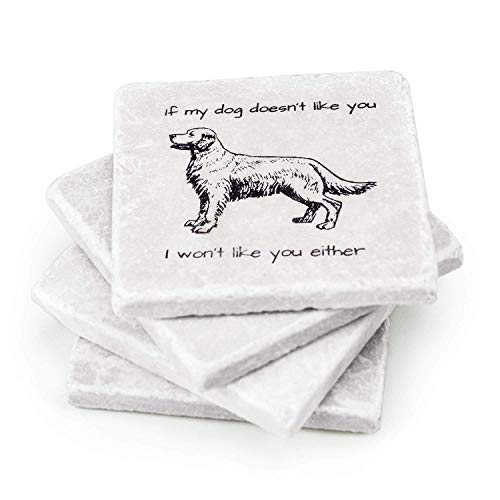 Funny Marble Coasters for Dog Lovers
