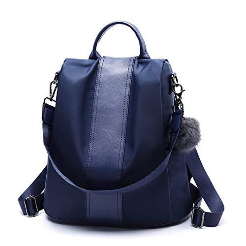 Tisdaini® Bolsos Mochila Mujer Moda antirrobo Casual Viaje Cuero Escolares Mochila Azul Marino