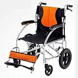 LOLRGV Leichte Aluminium-Legierung Folding Rollstuhl Scooter Leichter Schock Für Ältere Und Behinderte -