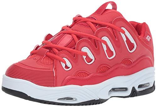 Osiris Men's D3 2001 Skate Shoe, red/White/Black, 6.5 M US