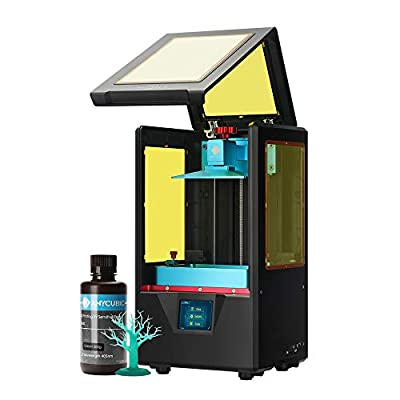 "ANYCUBIC Photon S 3D Printer, UV LCD Resin Printer with Dual Z-axis Linear Rail and Upgraded UV Module & Print Quietly and Off-line Printing, Build Size 4.53""(L) x 2.56""(W) x 6.49""(H), Black"
