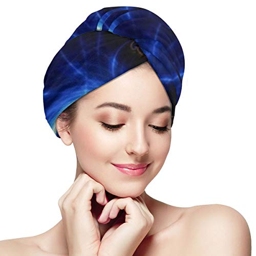 Microfiber Hair Towel Wrap The Perfect Haircare Anti-frizz Fast Drying Turban with Wet Dry Brush, Cool Best Amazing Trippy