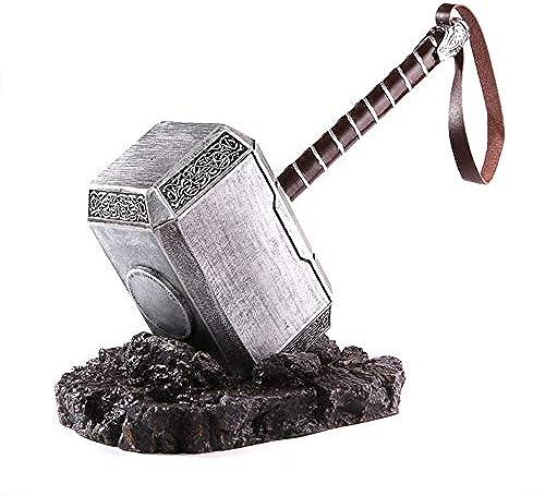 EP-Toy Thor's Hammer Mj ir Marvel Infinity War Thor 1  1 Metallsimulationsmodell mit beleuchteter Basis, für Thor Cosplay-Version (17,4 X 7,9  X5,2, 4 kg)