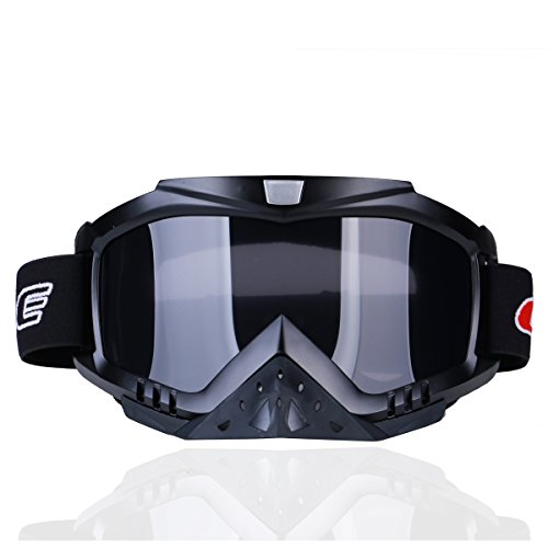madbike Motocicleta motocross gafas Deportes al aire libre Dirt Bike ATV MX Off-Road Goggles (black)