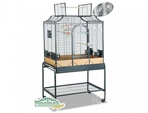 Montana Cages ® | Sittichkäfig, Käfig, Voliere, Vogelkäfig Madeira III - Antik mit waagerechten Stäben