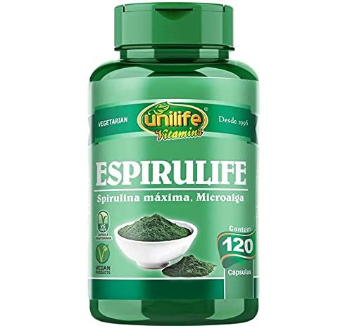 Spirulina 500mg Espirulife Unilife 120 cápsulas