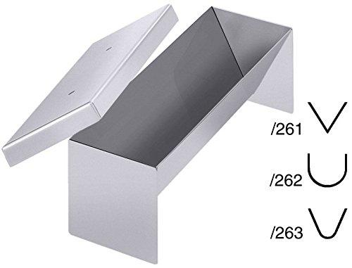 Pastetenform mit Deckel aus Edelstahl, hochglänzend, schwere Qualität/in dreieckiger, spitzer Ausführung, halbrunder Ausführung oder klassischer Ausführung | ERK (Klassisch)