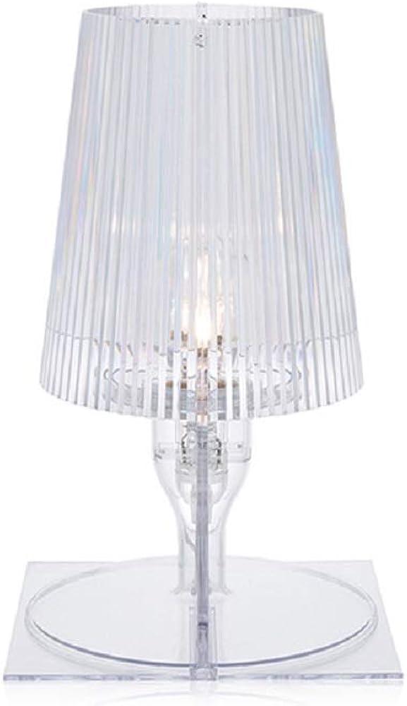 Kartell take lampada da tavolo, cristallo 9050B4