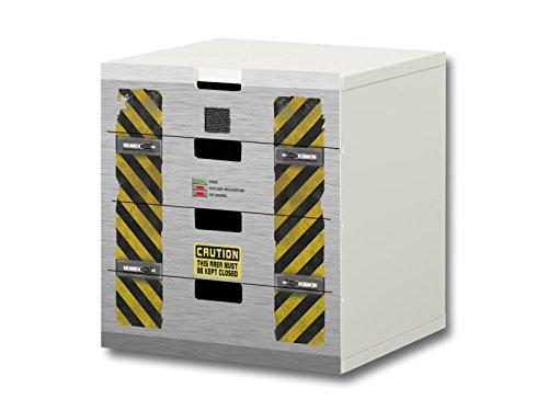 Nave especial pegatinas muebles   S4K27   adecuado para la cómoda con 4 cajónes STUVA de IKEA   STIKKIPIX