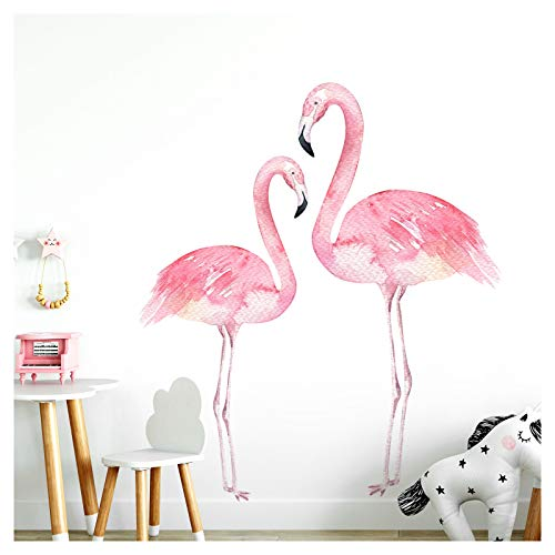 Little Deco wandtattoo Flamingos II kinderkamer babykamer kinderen sticker wandsticker kleefposter stickers DL154