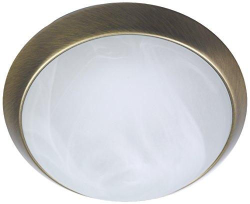 Niermann Standby A++ to E - Lámpara de techo (latón envejecido), cristal y metal, Alabastro., 25 x 25 x 8 cm