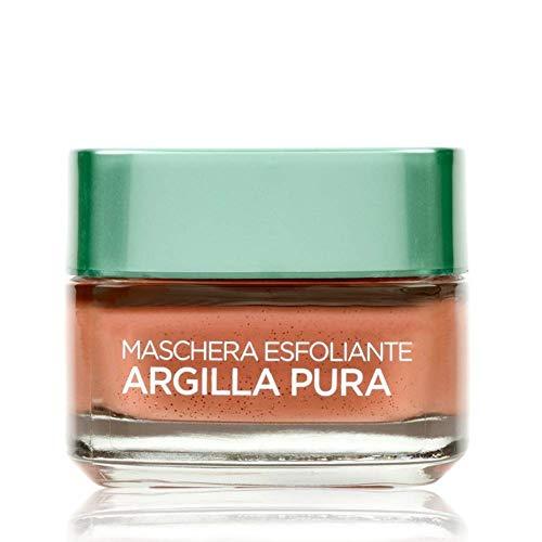 L'Oréal Paris Detergenza Maschera per Il Viso Argilla Pura Maschera Viso Esfoliante, 50ml
