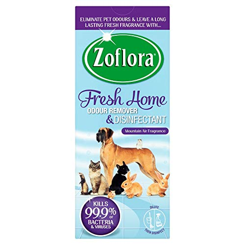 Zoflora Fresh Home Odour Remover and Disinfectant for Homes with Pets Home Kennels, 500ml