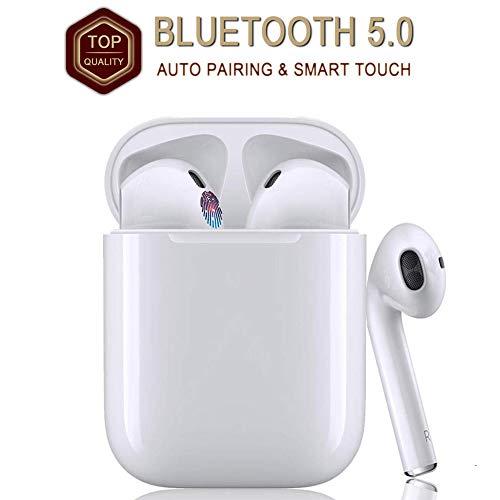 MISO Auriculares Bluetooth, Auriculares Deportivos Inalámbricos Impermeables, Micrófono de Reducción de Ruido Binaural con Estéreo de un Solo Oído, Estuche de carga de Auriculares portátil