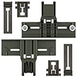 Upgraded Polymer Material W10350376 Dishwasher Top Rack Adjuster & W10195839 & W10195840 Dishwasher Part Compatible with Kitchenaid, Whirlpool Kenmore Dishwasher Parts Upper Rack - Heavy Duty Support