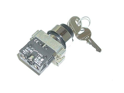 Total fuente 3661343007551Interruptor de encendido, 2posiciones, clave 455, Telemecanique tipo