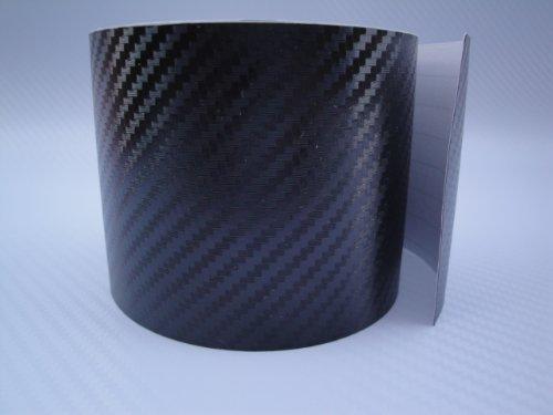 3D Carbon Fibre Helicopter Tape/Paint Protection Vinyl (3D Black, 1 Metre x 80mm)
