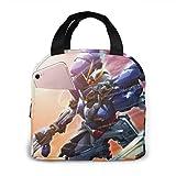 Gundam機動戦士ガンダム 大容量 ファスナー付き 前ポケット付き ハイクオリティエコ断熱材 弁当バッグ ランチバッグ Lunch Bag